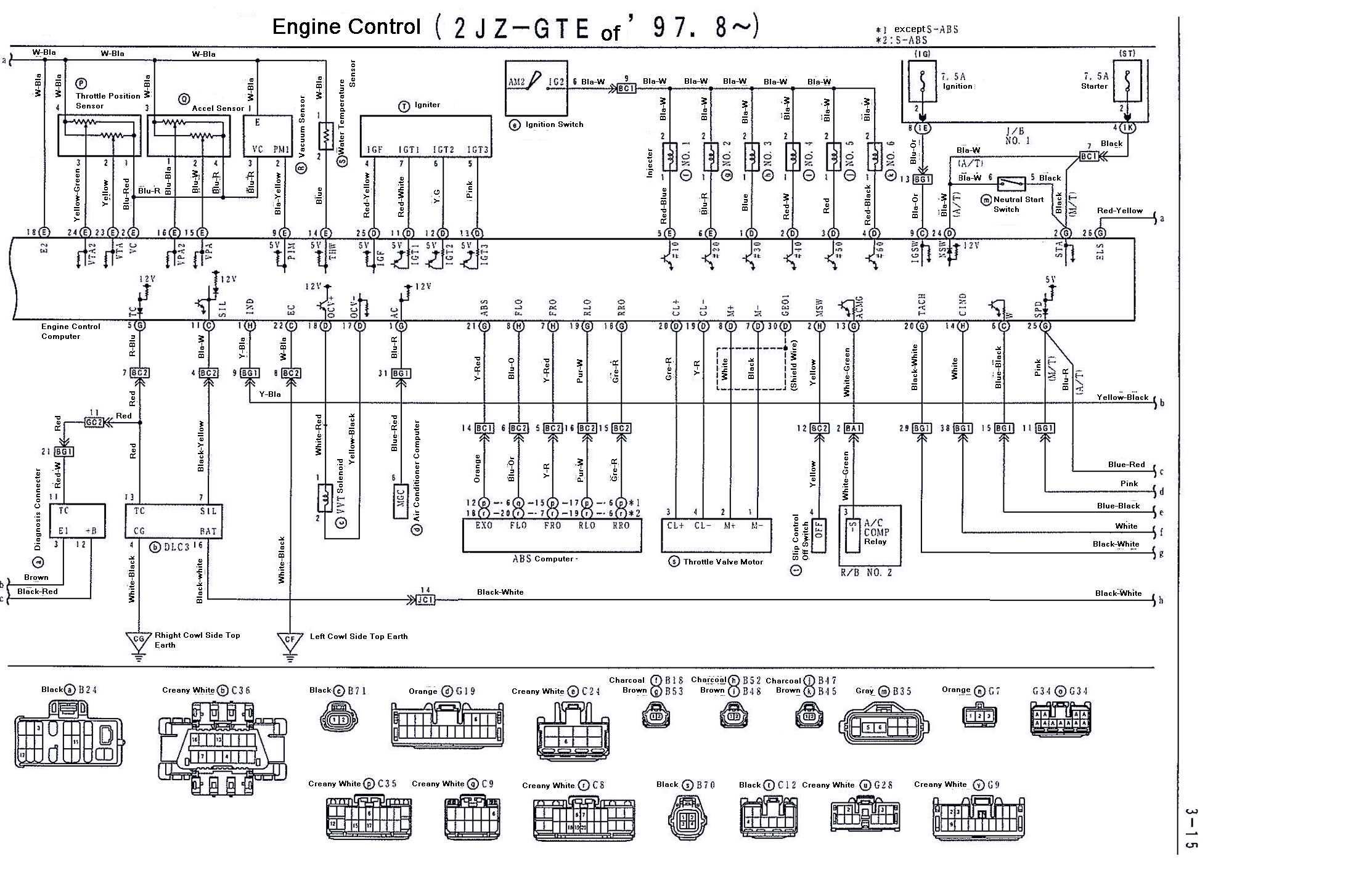 supra 2jzgte vvti wiring diagrams 97 8 02 2jzgarage disclaimer